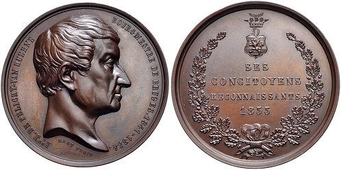 100030 | BELGIUM. Jean-Marie de Pelichy bronze Medal.