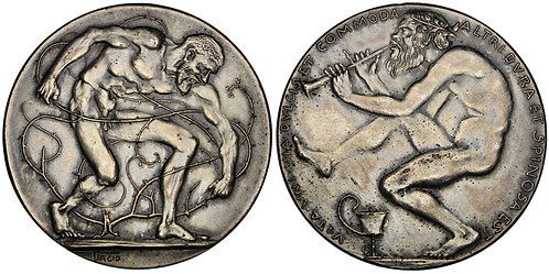 101287  |  GERMANY. Maximilian Dasio silvered bronze Art Medal.