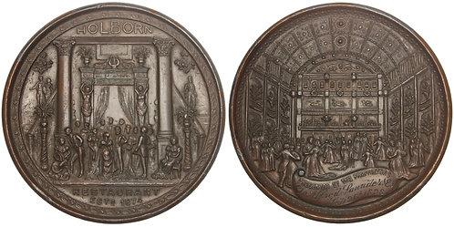 101240  |  GREAT BRITAIN. Holborn Restaurant bronzed pewter Medal.