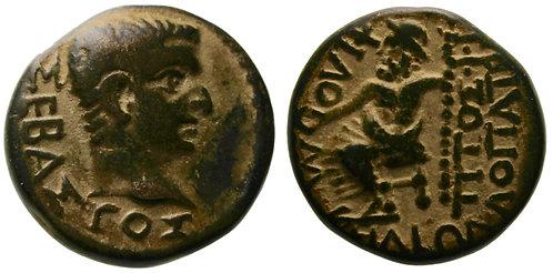 100132  |  ROMAN EMPIRE. Tiberius bronze Hemiassarion.