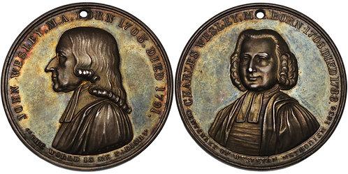 100594  |  GREAT BRITAIN. John & Charles Wesley silver Medal.