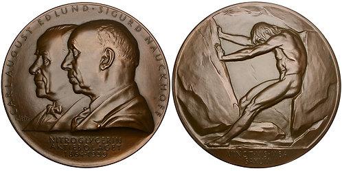 101479     SWEDEN. Carl August Edlund & Sigurd Nauckhoff bronze Medal.