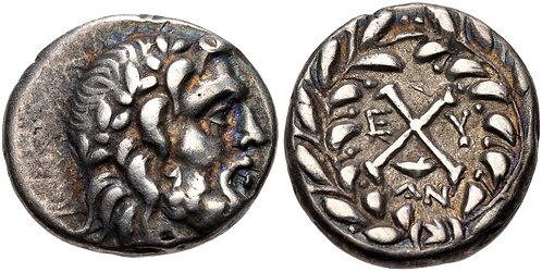 100017     GREEK. Achaian League Hemidrachm.