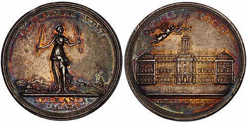 100200  |  UNITED STATES & GERMANY. Colonial America & Prussia silver Medal.
