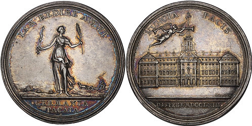 100742  |  UNITED STATES & GERMANY. Seven Years' War silver Medal.