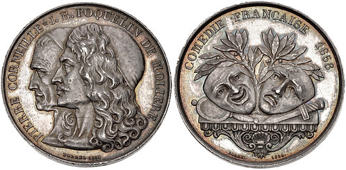 100041 | FRANCE. Molière & Corneille silver Medal.