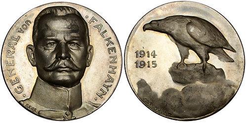 101499  |  GERMANY. Generalstabschef Erich von Falkenhayn silver Medal.