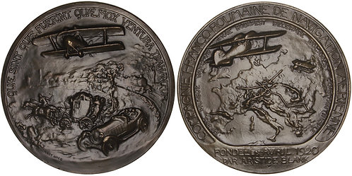 100632     ROMANIA & FRANCE. Aristide Blank bronze Medal.