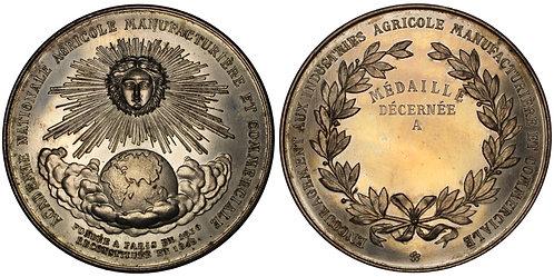 101203  |  FRANCE. National Academy of Agr., Mfg. & Comm. silvered copper Medal.