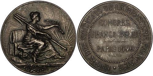 100244 | FRANCE. Brewer's Association of France silvered bronze Medal.
