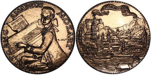 100287  |  AUSTRIA. Wolfgang Amadeus Mozart bronze Medal.