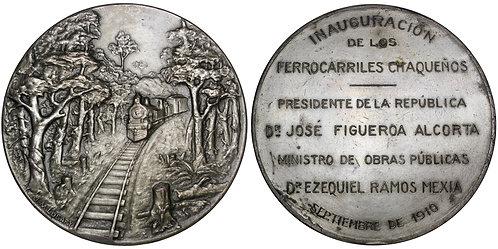 101720     ARGENTINA. Railroad silvered bronze Medal.