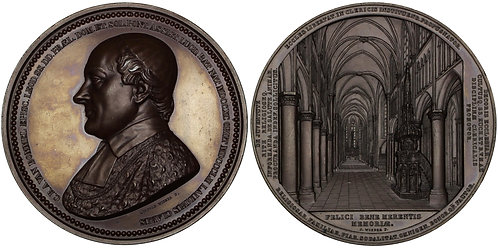 100429  |  BELGIUM. Luik (Liège). Bishop C. R. A. van Bommel bronze Medal.