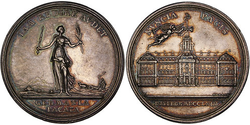 100468  |  UNITED STATES & GERMANY. Seven Years' War silver Medal.