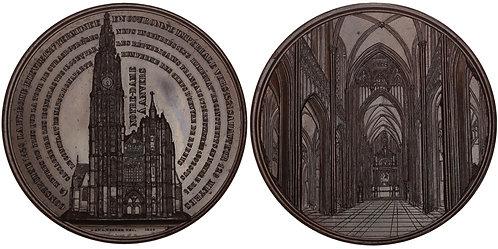 100723  |  BELGIUM. Cathédrale Notre-Dame d'Anvers bronze Medal.
