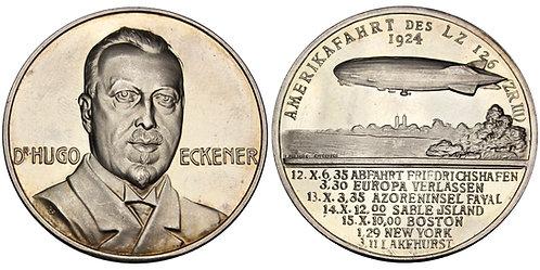 101501  |  UNITED STATES & GERMANY. Dr. Hugo Eckener silver Medal.