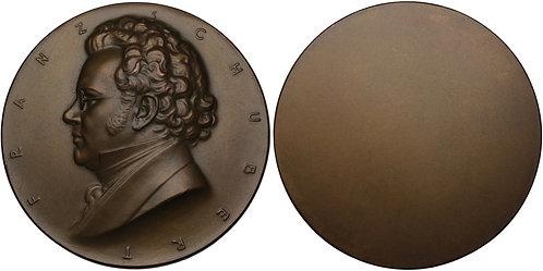 100285  |  AUSTRIA. Franz Peter Schubert uniface bronze Medal.