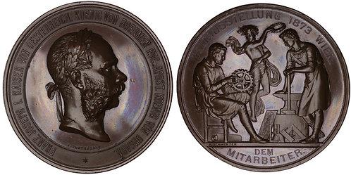 100675  |  AUSTRIA-HUNGARY. Franz Joseph I bronze Award Medal.