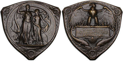 100577  |  UNITED STATES. Louisiana Purchase/St. Louis Expo bronze award Medal.