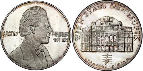100295  |  AUSTRIA. Gustav Mahler silver Medal.