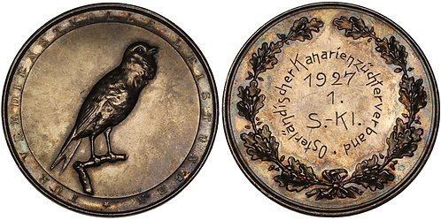 100482  |  GERMANY. Canary Breeders' Association silver Medal.
