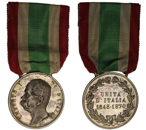 100513  |  ITALY. Umberto I silver Medal.