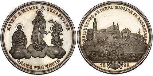 100597  |  GERMANY. Landsberg Mission silver Medal.