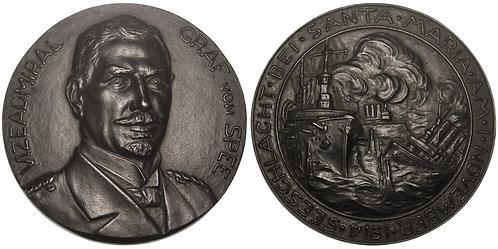 100962  |  GERMANY. Vizeadmiral Maximilian von Spee cast iron Medal.