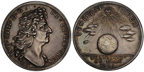 101198  |  FRANCE. Louis XIV/States of Lille silver Jeton.