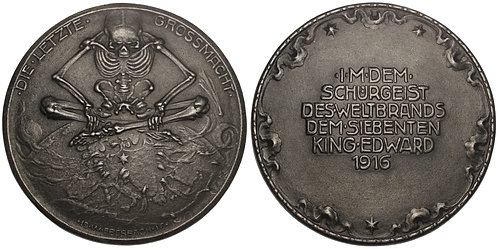 101161  |  GERMANY & GREAT BRITAIN. Satirical cast iron Medal.