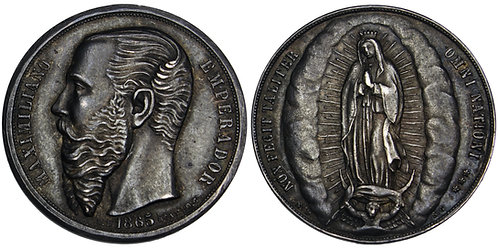 101677  |  MEXICO. Empire. Maximiliano I silver Medal.