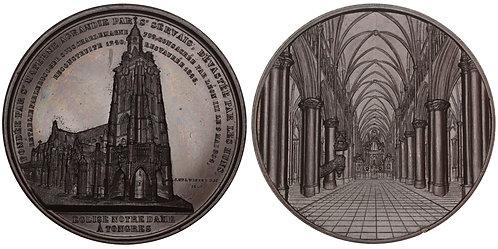 101021  |  BELGIUM. Tongeren. Basilica of Our Lady bronze Medal.