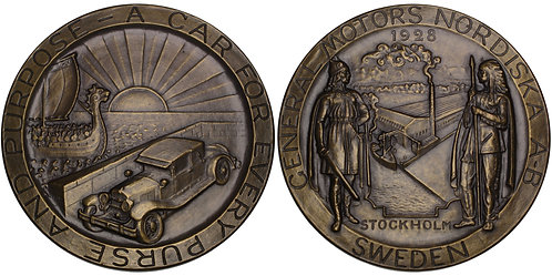100691  |  UNITED STATES & SWEDEN. General Motors bronze Medal.