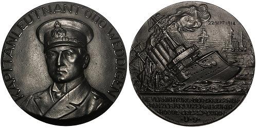 100963  |  GERMANY. Kapitänleutnant Otto Weddigen cast iron Medal.