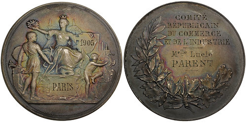 101526     FRANCE. Republican Committee for Commerce & Industry silver Medal.