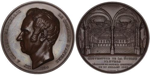 100751  |  BELGIUM. Antwerp. Stock Exchange/Charles Marcellis bronze Medal.