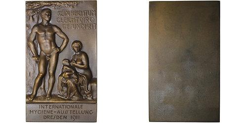 100634  |  GERMANY. Dresden uniface bronze Plaque.