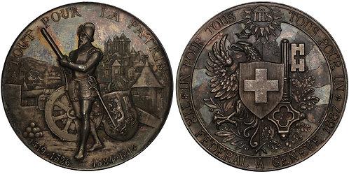 100687  |  SWITZERLAND. Silver Schützenmedaille (Shooting Medal).