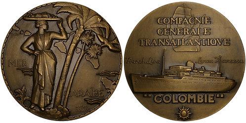 100252  |  FRANCE. Compagnie Générale Transatlantique bronze Medal.
