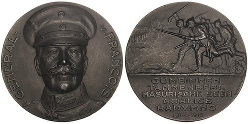 100961  |  GERMANY. General Hermann Karl Bruno von François cast iron Medal.
