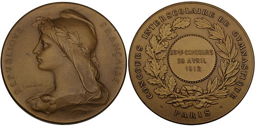 100530     FRANCE. Bronze Award Medal.