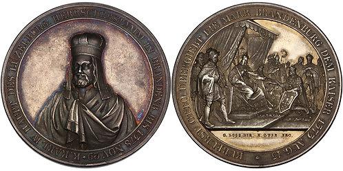 100554  |  GERMANY. Brandenburg. Karl IV silver Medal.
