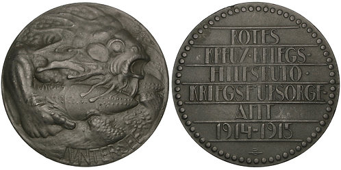 101407  |  AUSTRIA. Submarine Warfare in the Mediterranean zinc Medal.