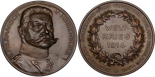 100271  |  GERMANY. Generalfeldmarschall Paul von Hindenburg bronze Medal.