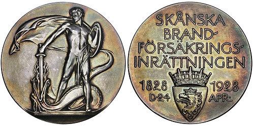 101645  |  SWEDEN. Skåne Fire Insurance Institute silver Medal.