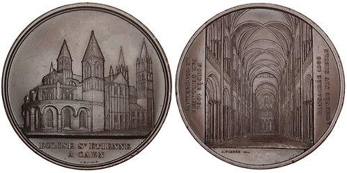 101035  |  FRANCE. Caen. St. Stephen's Church bronze Medal.