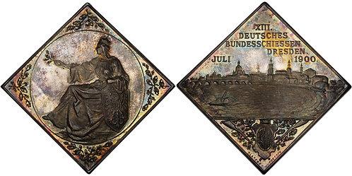 100501     GERMANY. Silver Schützenmedaille (Medal Klippe).
