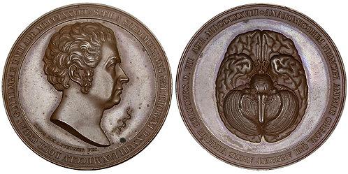 101363  |  GERMANY. Samuel Thomas Sömmering/Human Brain bronze Medal.