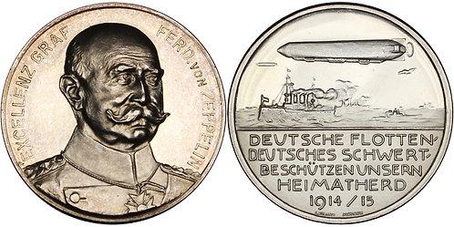 100355  |  GERMANY. Graf von Zeppelin silver Medal.