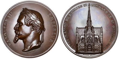 101560  |  FRANCE. Paris. St. Bernard/Napoléon III bronze Medal.